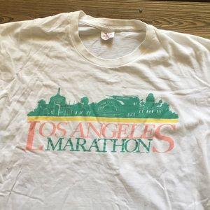Vintage 80's LA Marathon Tee Shirt